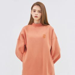 SMALL MONO LONG SWEATSHIRT-ORANGE