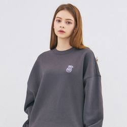SMALL MONO SWEATSHIRT-GRAY