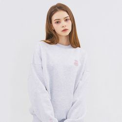 SMALL MONO SWEATSHIRT-CEMENT GRAY