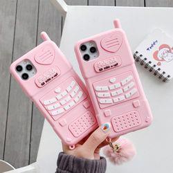 아이폰12/PRO/미니/11/SE2 입체 핑크 휴대폰 케이스