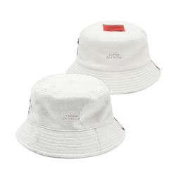 MARBLE REVERSIBLE FLEECE BUCKET HAT WHITE