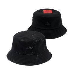 MARBLE REVERSIBLE FLEECE BUCKET HAT BLACK
