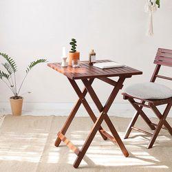 원목 접이식 카페 테이블 브라우니