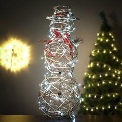 크리스마스 넝쿨눈사람 LED 컨츄리 120cm