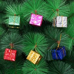크리스마스 6p 선물상자 4cm 장식재료