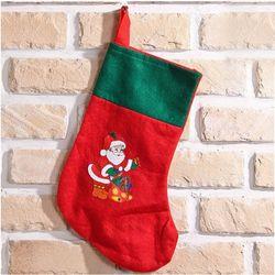 크리스마스 레드 양말주머니 36.5cm 꾸미기