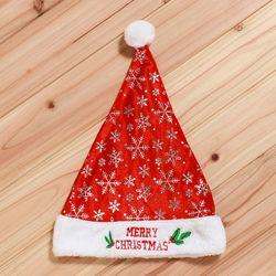 크리스마스 레드 눈꽃 산타모자 40cm