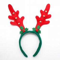 크리스마스 빨간뿔 루돌프 머리띠 30cm