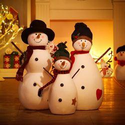 크리스마스 대형 인형 화이트 스마일 눈사람