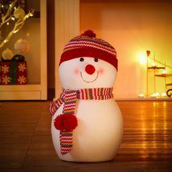 크리스마스 빨간모자 동글 눈사람인형 성탄 선물
