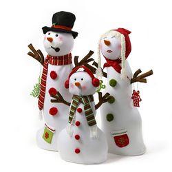 크리스마스 거인나라 눈사람 가족 3종세트 장식인형
