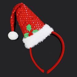 크리스마스 레드 산타모자 머리띠 성탄장식