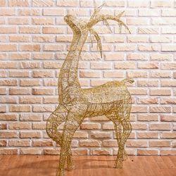 크리스마스 140cm 골드 반짝이 사슴 장식 성탄절