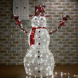 크리스마스 LED 눈사람장식 120cm 대형 눈사람