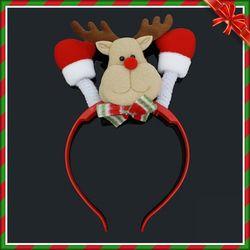 크리스마스 LED 반짝 사슴 머리띠