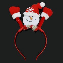 크리스마스 LED 눈사람 머리띠