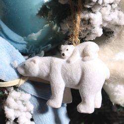 미니 북극곰 오너먼트