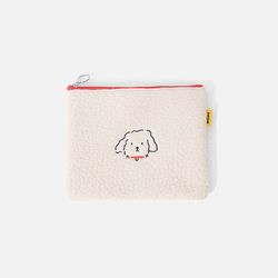SWSW X MARY POUCH Ecru-Red