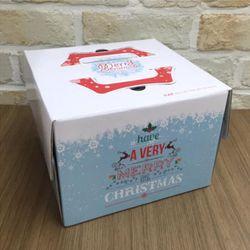 크리스마스케익박스(1호)50개 하판 미포함