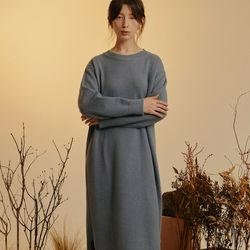ROUND NECK KNIT OPS (SKYBLUE)