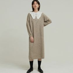 ROUND NECK KNIT OPS (BEIGE)