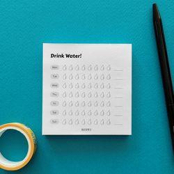 어른문방구 Drink Water 물마시는 습관기르기 트래커플래너