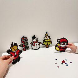 크리스마스 한지 오너먼트&가랜드 DIY 키트 (5종 세트)