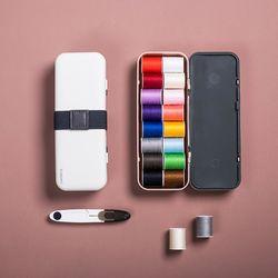 봉봉 반짇고리 18가지 실 바느질 바느질함 세트