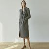 JENNY DOUBLE LONG COAT [CHECK BROWN]