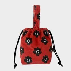 Retro flower string bag