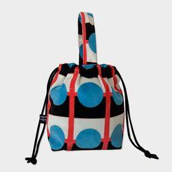 Retro blue string bag
