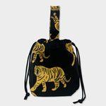 tiger black string bag