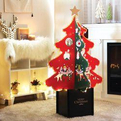 크리스마스 솔아웃스탠딩트리 장식 소품 전구 트리 나무