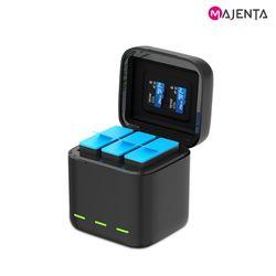 마젠타 텔레신 고프로 10 9 전용 3구 호환 충전기