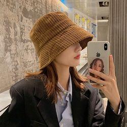 뉴블 여성 코듀로이 골덴 벙거지 모자