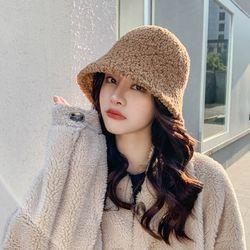 라돈 뽀글이 따뜻한 벙거지 버킷햇 모자