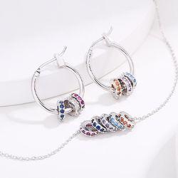 원러브링 귀걸이목걸이 세트 (20S019)
