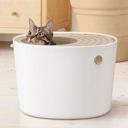 아이리스 프리미엄 중형 고양이 화장실 PUNT-430