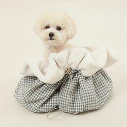 강아지가방 가방이너백 강아지쿠션 보듬이너백
