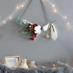 크리스마스 벽트리 조이리스 트리 전구 나무 장식 소품