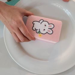 귀여운 테디래빗 스펀지수세미 2P세트