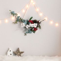 크리스마스 벽트리 코코리스 트리 전구 나무 장식 소품