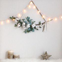 크리스마스 벽트리 다솜리스 트리 전구 나무 장식 소품