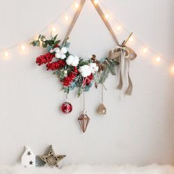 크리스마스 벽트리 이안리스 트리 전구 나무 장식 소품