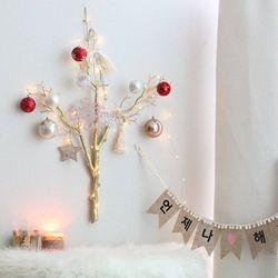 크리스마스 벽트리 앙주리스 트리 전구 나무 장식 소품