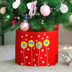 크리스마스 가리개박스 팔각 레드방울 트리 장식 소품