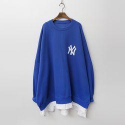 NY Oversized Sweatshirt - 기모안감