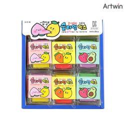 1000 투컬러 슬라임 믹스 지우개 BOX(18)