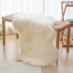 자체제작  FAUX FUR 에코퍼 양털 러그 수입 인조 양털 카페트