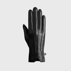 사르토르 램바튼 여성 터치 가죽장갑 숏 블랙
